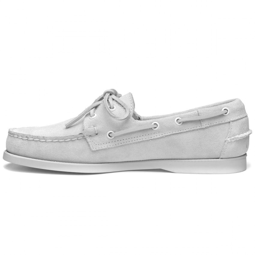 DOCKSIDES SUEDE WHITE