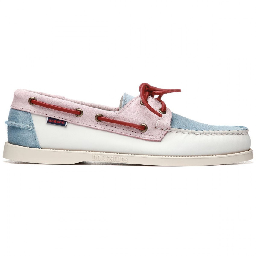 DOCKSIDES PORTLAND PASTEL WHITE BABY PINK BABY BLUE