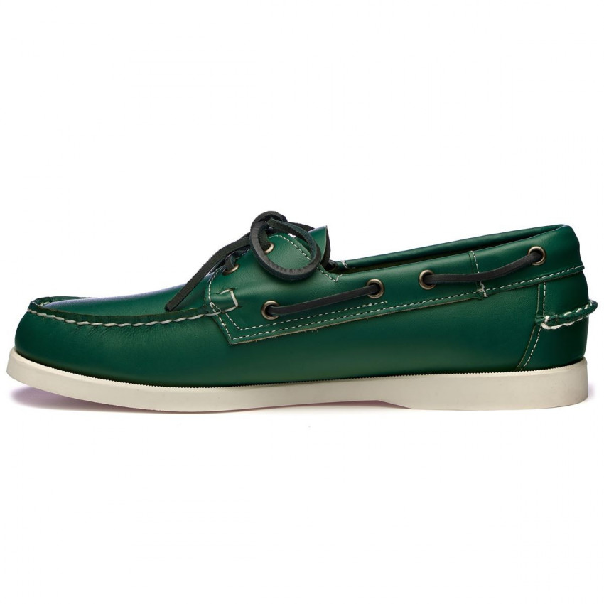 DOCKSIDES CUIR Green Forest